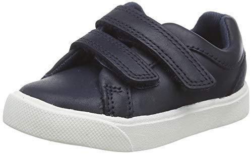 Clarks Jungen City OasisLo T Sneaker Niedrig, Blau (Navy Navy), 20 EU