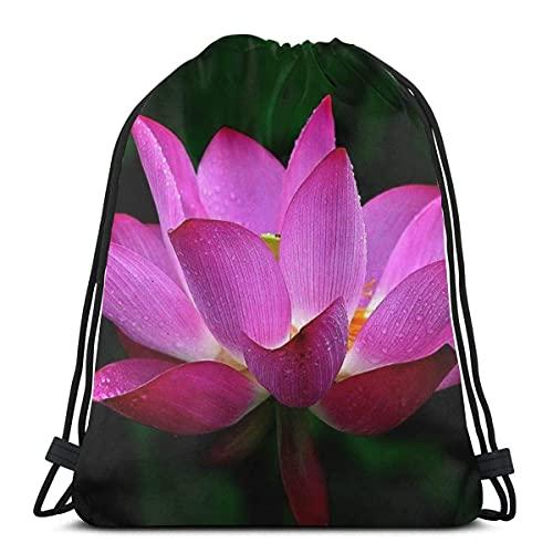 Mochila con cordón Lotus Flower Sports Gym Sackpack Bolsa de viaje