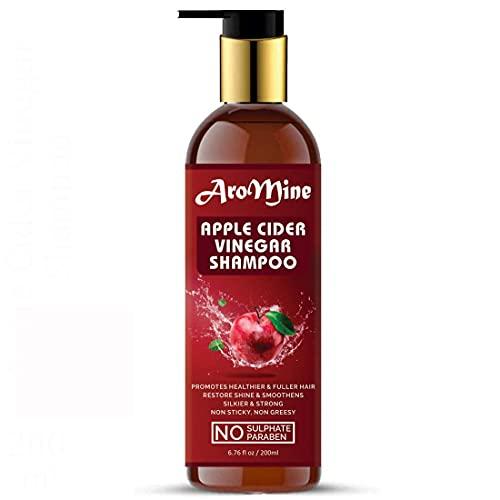 Glamorous Hub - Champú para cabello con vinagre de sidra de manzana y aroma para cabello largo y fuerte (sin sulfato ni parabeno), 100 ml