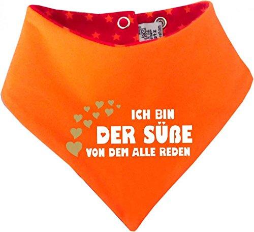 KLEINER FRATZ KLEINER FRATZ Kinder Wendehalstuch Sternchen (Farbe rot-orange) (Gr. 2 (74-98) Ich bin der Suesse von dem alle reden