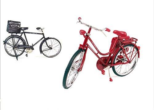 Un baby123 Simulazione retrò Vintage 28 Grande 驴 Bicicletta Phoenix Modello di Bicicletta Ornamenti creativi Regali creativi (Color : Red)