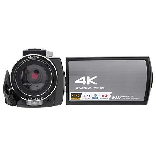 Cámara de Video, Pantalla táctil IPS HD de 3.0 Pulgadas Cámara Digital con Zoom Inteligente 16X ampliamente Utilizada, para Piezas de cámara Accesorios de(Standard + Battery)