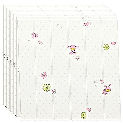 GL-GDD Paquete de 10 Paneles de Pared para pelar y Pegar Azulejos autoadhesivos para Bricolaje Papel Tapiz Impermeable anticolisión para cabecera de Dormitorio (52,7 pies Cuadrados),9
