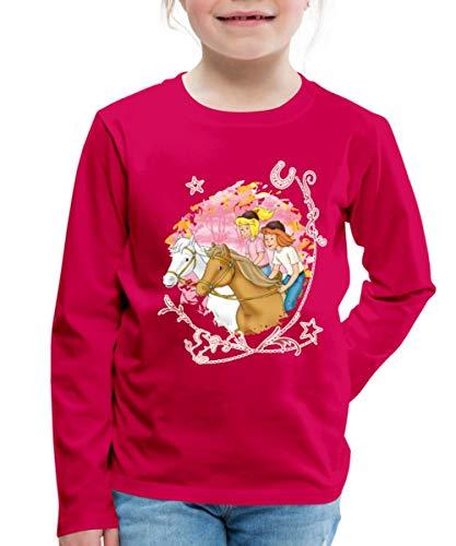 Bibi Und Tina Wettreiten Im Wald Kinder Premium Langarmshirt, 110-116, Dunkles Pink