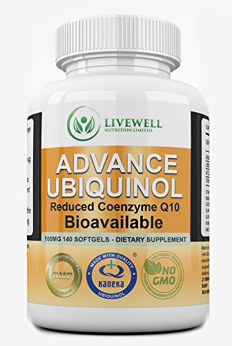 Ubiquinol – Kaneka QHPure Encapsulation 100mg High Potency (140 Softgels) 100% Natural Fermented Reduced Form COQ10 Vegetarian Caps