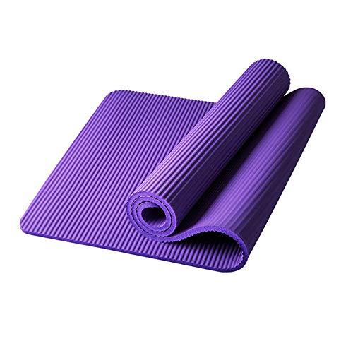 Xinrongqu 185Cm Fitness Mat Yoga, Mat Men Gym Gym Mat Esterilla Yoga Tapete Pad Alargar Antideslizante para Principiantes con Bolsa De Yoga,15mm