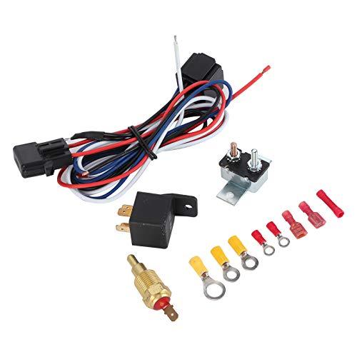 Shipenophy Kit de relé de Ventilador de refrigeración de radiador Superior Interruptor de Temperatura Profesional práctico para su vehículo