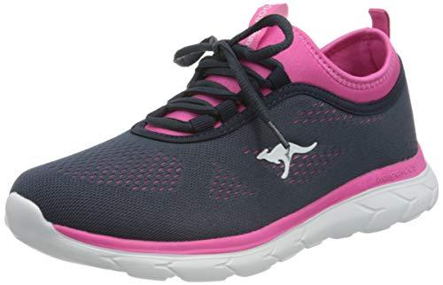 KangaROOS Damen KN-Run Neo Sneaker, Dk Navy/Daisy Pink, 41 EU