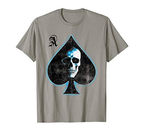 Ace of Spades Skull Texas Hold'em Playing Card Camiseta