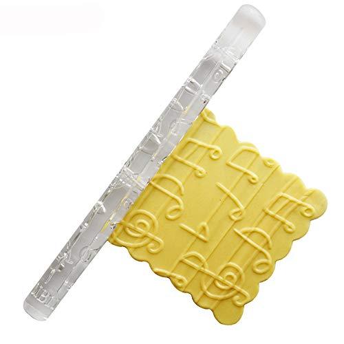 Plástico diseño rodillo de pastel rodillo de gaufrage para DIY Galletas/repostería/pasta/Azúcar/tartas/pizza herramienta de cocinado