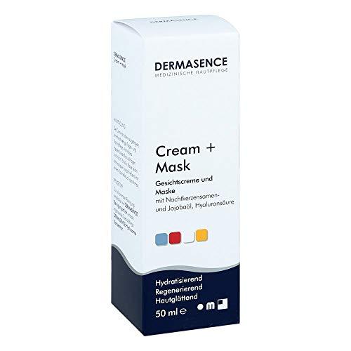 DERMASENCE Cream Mask Gesichtsmaske & Gesichtscreme mit Hyaluronsäure Panthenol und Jojobaöl als ideale Tagescreme und Nachtcreme