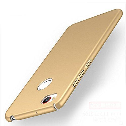 UKDANDANWEI ZTE Nubia Z11 Mini S Hülle,extrem schlicht-dünn-Leichte PC Handy Schutzhülle für ZTE Nubia Z11 Mini S - Gold