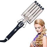 Aotumm Ciort - Rizador de pelo profesional de 5 barriles con dos temperaturas ajustables de 180 °C a 210 °C, como regalo para mujeres y niñas