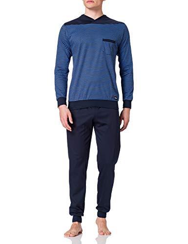CALIDA Herren Yellowbration Bündchen Pyjamaset, Bay Blue, 56