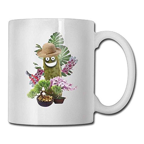 N / A Lustige grüne Essiggurken Pflanzen Kaffeetassen 11 Unzen Reisegeschenk Keramik-Teetasse Familie und Freund