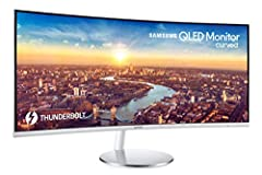 34-INCH 21:9 ULTRAWIDE CURVED MONITOR with QLED technology for vibrant color and fine detail MONITOR FOR MACBOOK PRO supports Thunderbolt 3 which offers 40 Gbps processing speed—8x faster than USB 3.0 —and up to 85W laptop charging thru single cable ...