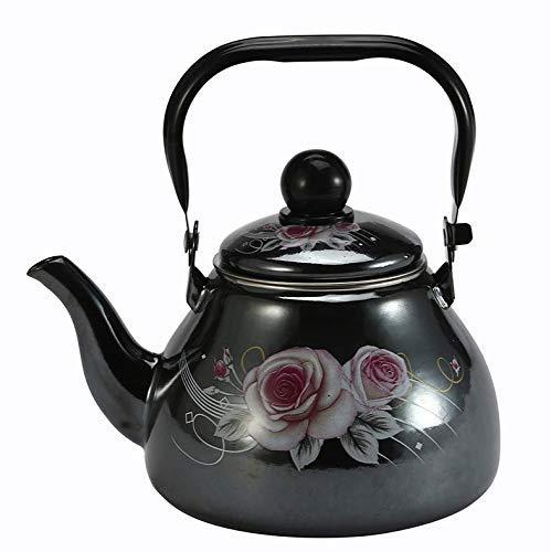 LULUTING Enameled Kettle Kettles 2.5 L Chino Tradicional Esmalte Hervidor De Agua Con Embudo para Gas Y Cocina De Inducción Casa Té Teapots