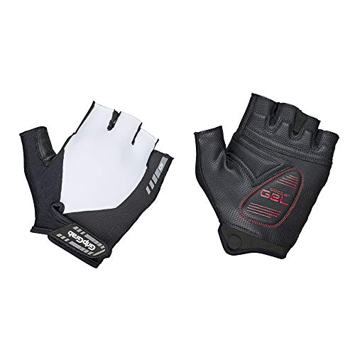 GripGrab ProGel Padded Short Finger Cycling Gloves - Comfortable Gel-Pad Fingerless Unisex Bike Gloves Pull-off Tabs