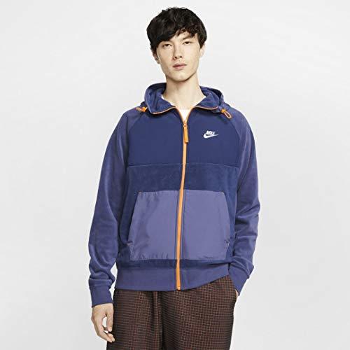NIKE Sportswear Chaqueta, Hombre, Midnight Navy/Sanded Purple/White, XS