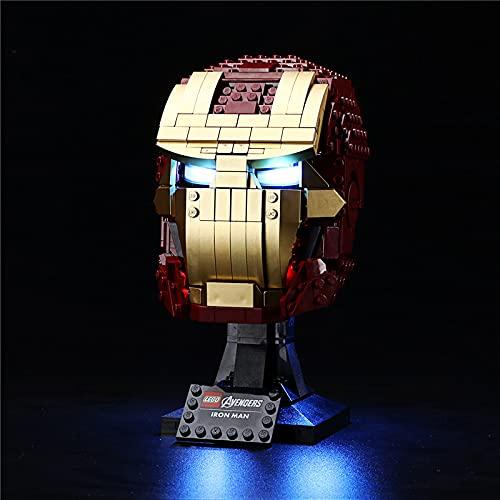 GEAMENT - Kit di luci LED per casco Iron Man, compatibile con LEGO 76165 Marvel Super Heroes (LEGO set non incluso)