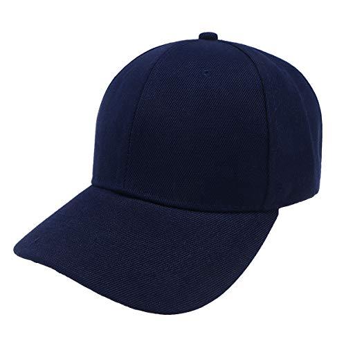LIOOBO Mode Baseballmütze Volltonfarbe Baseballmütze Schirmmütze Hut für Frauen Männer