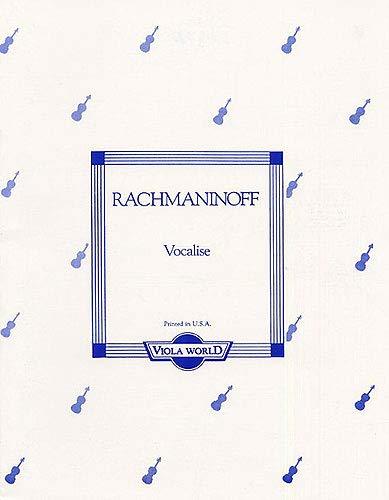 Sergei Rachmaninoff: Vocalise (Viola/Piano). Für Bratsche, Klavierbegleitung