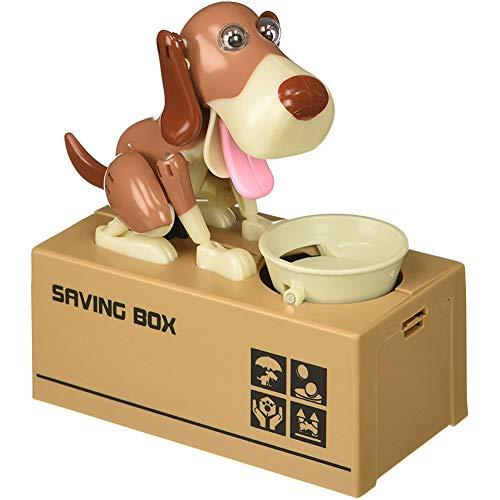 SALAMOPH Hund Sparschwein süße Münzen Einsparungen Roboter Münze kaut Spielzeug Geld sparen Box Geschenk für Kind Erwachsene
