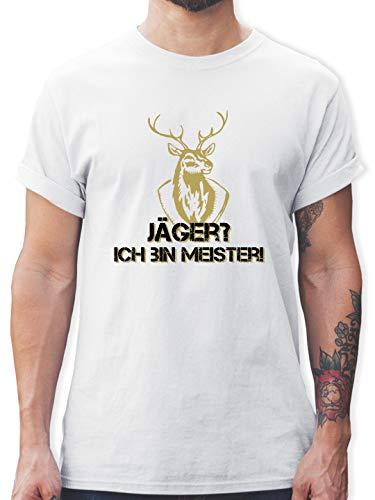 Après Ski - Jäger? Ich Bin Meister! - XL - Weiß - ski Tshirt Herren - L190 - Tshirt Herren und Männer T-Shirts