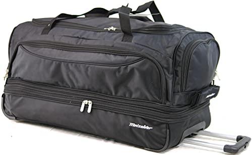 Borsa da viaggio Trolley con ruote Metzelder Explorer (valigia morbida), Nero (Black), PANDA L Grande 76x36x39cm 110L 3.3kg, Borsa da palestra