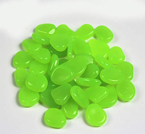 ZLDFAN Fluorit kann buntes Licht abgeben, um das Aquarium, den Blumentopf, den Garten usw. zu dekorieren.-Türkis 100 Stück