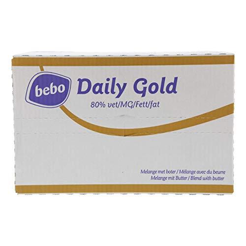 Bebo Margarine Tagesgold 80% Fett Schachtel 400 Stück x 10 Gramm