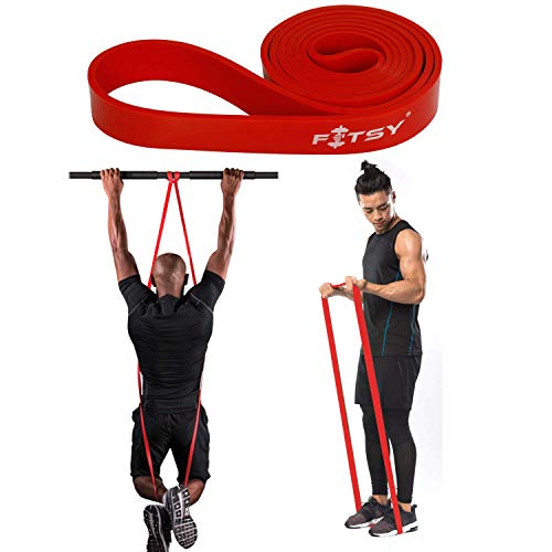 FITSY Resistance Band - Loops | Pull Ups Band 41 Inches | Exercise Band - for Mobility & Resistance Training, Pull Ups Assist - RED