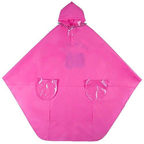 Poncho Damen Casual Regenponcho Normallacks Blickdicht Mit Eingrifftaschen Jungen Hipster Wasserdicht Regen Regenjacke Regenmantel (Color : A, Size : One Size)