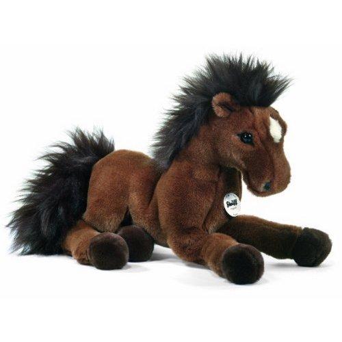 Steiff 070716 Hanno Schlenker Hannoveraner 35 bruin paard