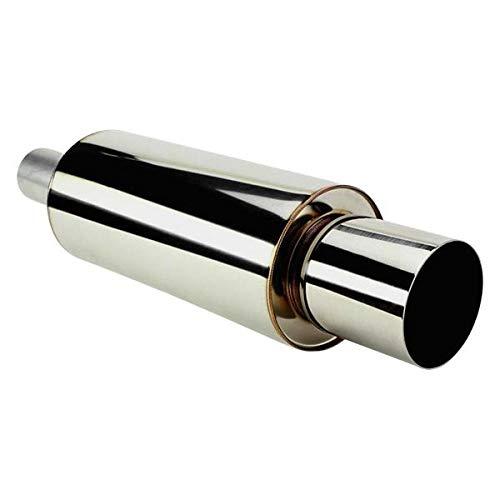 HKS 3203-EX023 Muffler (Universal 2.5 Inlet / 4 Outlet), 1 Pack, (N)