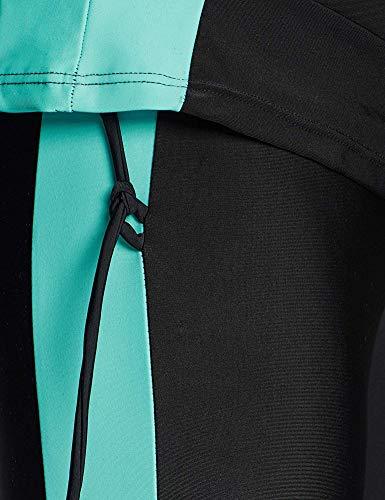 YEESAM Muslim Modest Swimsuits for Women, Long Sleeve Islamic Burkini Swimwear (Blue, Asia L (Ref. US Size 6-8))
