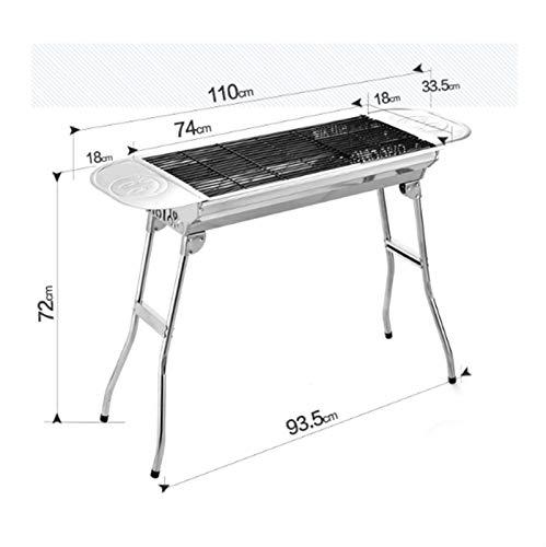 41EqNzuWeZL. SL500  - MUBAY Holzkohlegrill BBQ für Picknick im Freien Einfache Holzkohlegrill Perfekte Faltbare Premium-BBQ-Grill-Edelstahl-Verdickung tragbarer Faltbarer Grill