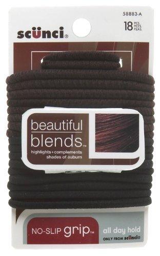 Scunci 5888303a048 Beautiful Blends Hair Elastics 18 Count by Scunci