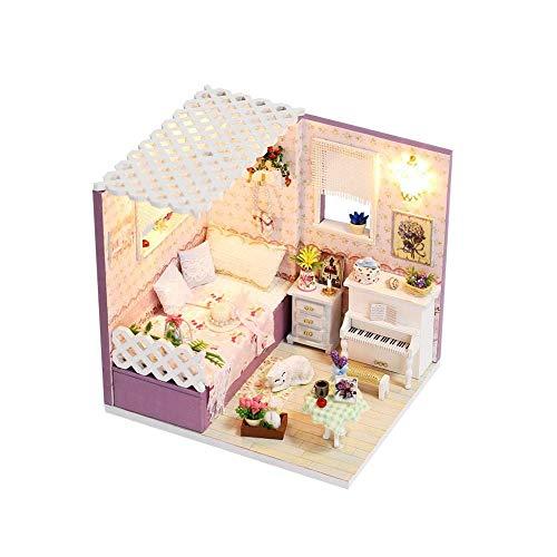 Teyun Mini casa de muñecas DIY habitación Princesa, Cama, gabinete, etc, for el Regalo de cumpleaños de Las