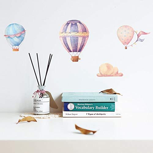 TYLOLMZ Colorido globo aerostático etiqueta de la pared para niños habitaciones de bebé decoración calcomanías murales de pvc pegatinas de guardería papel pintado casero