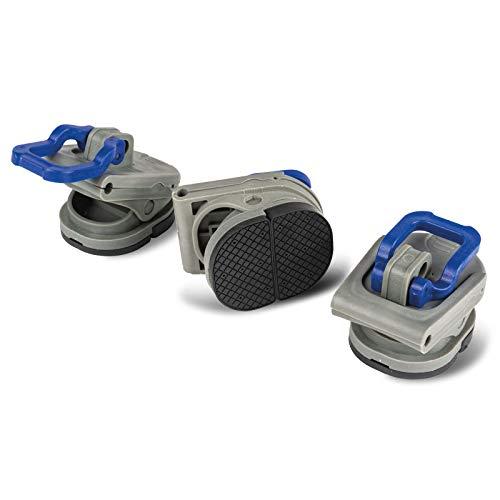 3X Vorzelt Clips Kunststoff Befestigung für Dachhakenstange Zeltstange - Halterung ohne Bohren - Klemme für Gestänge - 3er Set - Vorzelt Stange Halter - Spanner - Zelt Sonnensegel - Camping Zubehör
