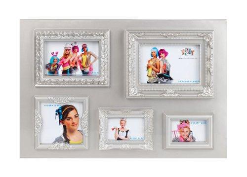 trendfinding Foto Bild Ornament Rahmen Design Bilderrahmen Ornamente Wandcollage Collage Hochformat und Querformat Silber