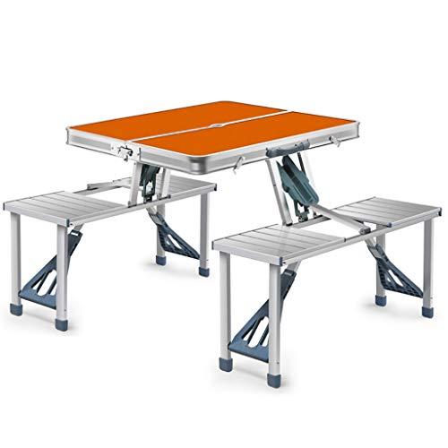 Mesas de Acampada Mesa Plegable portátil Ajustable en Altura Mesa Plegable para Acampar con sillas para Fiesta en el jardín/BBQ/Work/Homework - Interior Outdoor (Color : B)