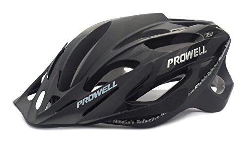 Prowell F59R Vipor F59R - Casco de ciclismo Edge negro Talla: M (55-61 cm)