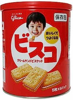 江崎グリコ ビスコ保存缶 5枚×6袋入