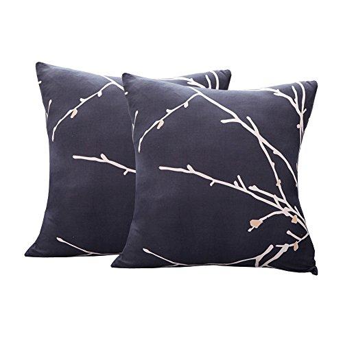 EENZER Funda de Sofa Elasticas 1 2 3 4 Plazas,Universal Fantasía Cubre Sofas Ajustables,Árbol Rama,2 x Fundas para Cojines