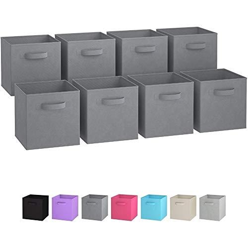 Caja de almacenamiento de tela plegable caliente Contenedores de cubo Organizador de tela Cestas de almacenamiento Armario de guardería plegable Características del cajón Manijas dobles ( Color : 01 )