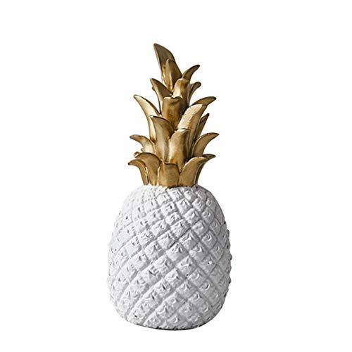 BESTonZON Figura de Piña Resina Mesa Fruta Piña Estatua Escultura Ornamento para Decoraciones de Oficina en Casa- Tamaño S