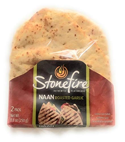 Stonefire Naan Fresh Authentic Flatbreads, (3 Pack) Garlic Flavor