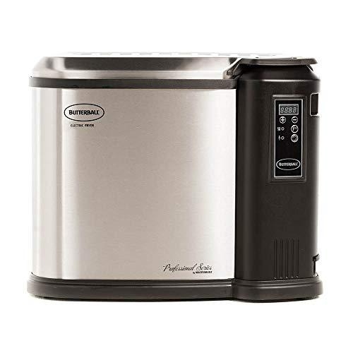 Masterbuilt MB23011518 Butterball XXL 1650W Indoor Digital Electric 22-Pound Turkey Fryer With Accessories, Platinum